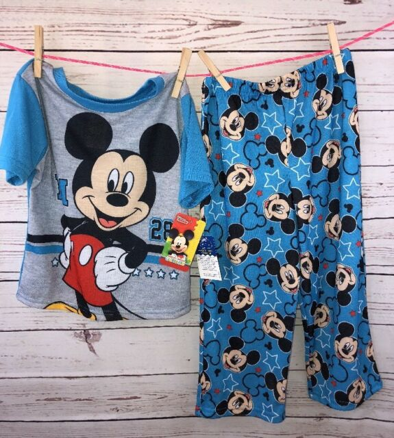 NWT Disney Mickey Mouse Clubhouse Short Sleeve Pajamas 4t