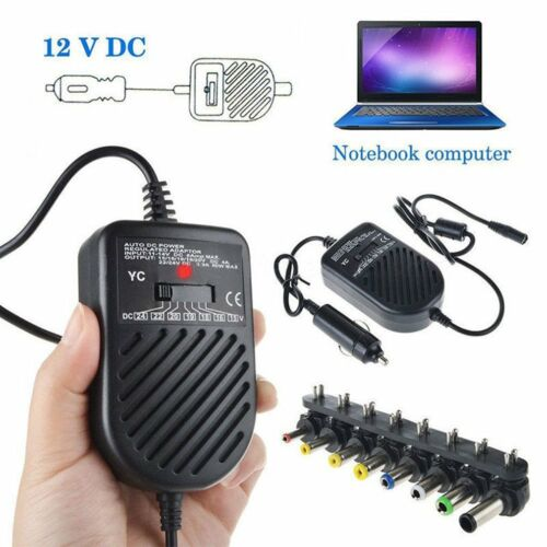 DC 80W Car Auto Universal Charger Power Supply Adapter Set For Laptop Notebook U