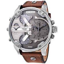 Diesel Men's Mr. Daddy 2.0 Brown Leather Strap Chronograph Watch 57mm DZ7413