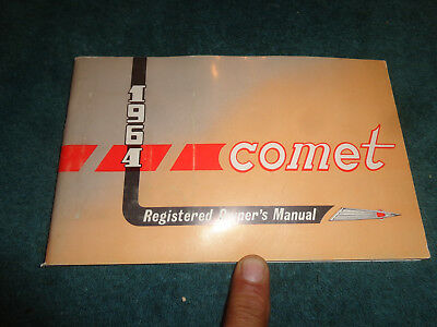 1964 Mercury Comet Owners Manual User Guide Reference Operator Book