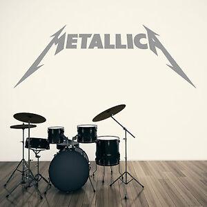 METALLICA-LOGO-Vinyl-wall-art-sticker-music-decal-heavy-metal-rock-band