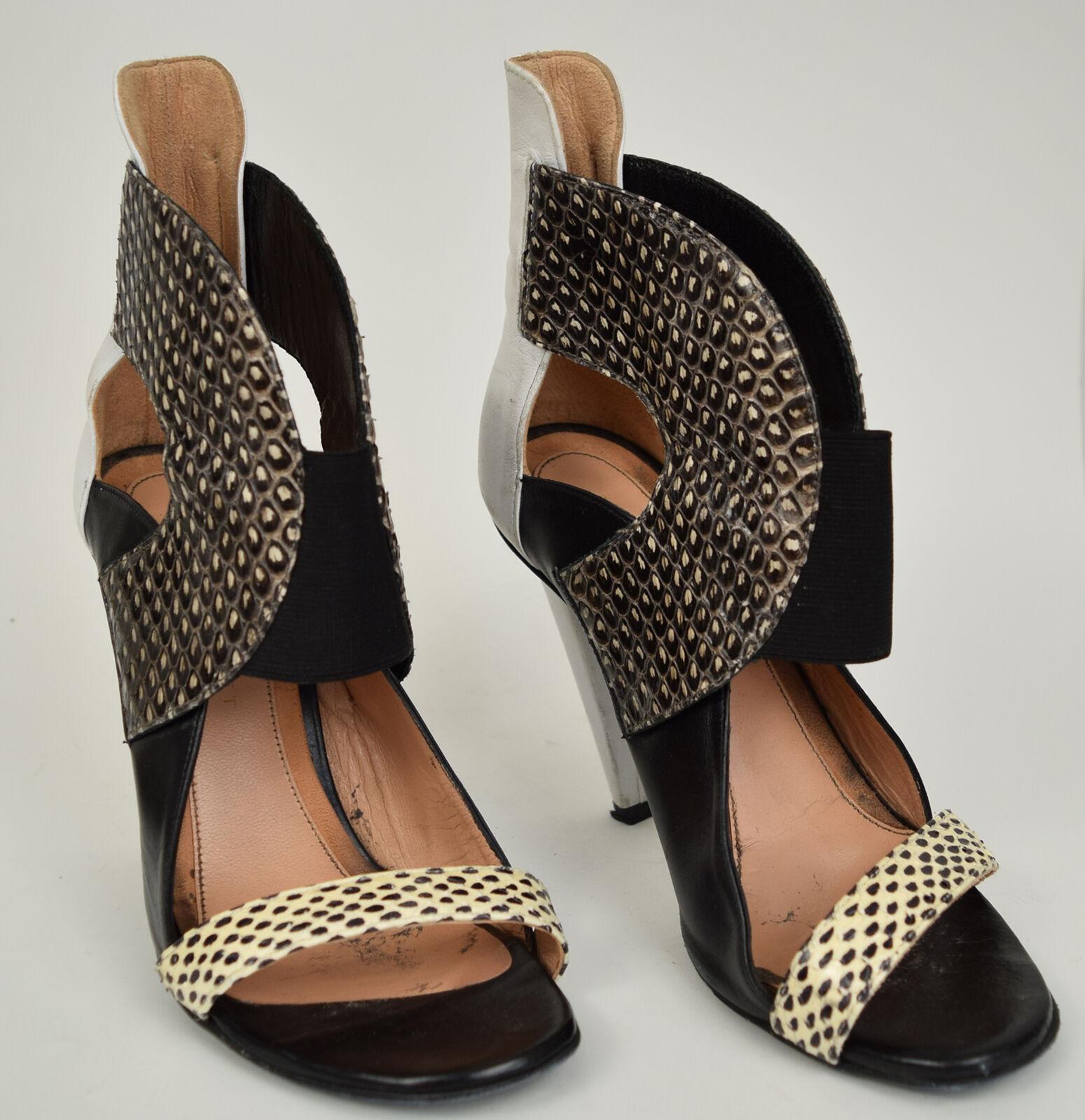 prezzi bassissimi Roland Roland Roland Mouret Sandals nero Snakeskin bianca High Heel scarpe 36 donna  rivenditori online