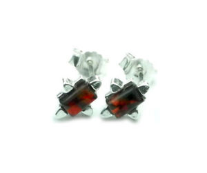 Beautiful-925-Sterling-Silver-amp-Baltic-Amber-Designer-Earrings-SilverAmber-5974