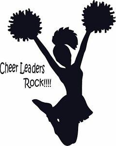 Cheer Leaders Rock  vinyl wall decal