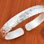 Fashion-Women-925-Silver-Plated-Jewelry-Elegant-Bangle-Cuff-Bracelet-Wristband thumbnail 4