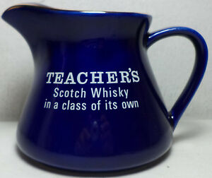 COLLECTIBLE-VTG-TEACHER-039-S-SCOTCH-WHISKY-CERAMIC-WATER-JUG-PITCHER