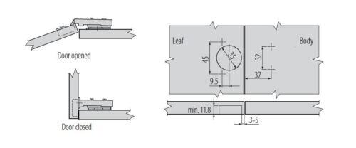10 x GTV prestige soft close 35mm cuisine cabinet porte charnière Plaque /& Vis