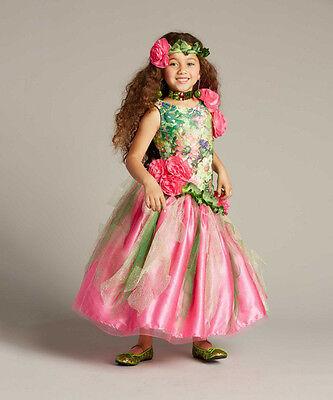 NEW Girls Chasing Fireflies Garden Princess Fairy Costume with Headpiece Size 6