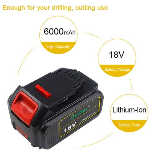 2x 18V 6Ah DCB184 Li-ion Battery For DeWalt XR 18Volt 6.0Ah DCB182 DCB183 DCB181