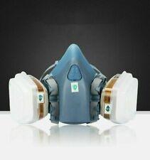 7502 Half Face Gas Mask Respirator Paint Built In Filters Read Description