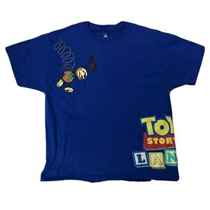 Disney-Toy-Story-Land-Slinky-Dog-Shirt-Sz-XL-Blue-Double-Sided-Short-Sleeve-Tee