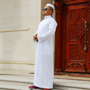 7Color-Men-Muslim-Robes-Islamic-Clothing-Dubai-Arabic-Abaya-Kaftan-Eid-Mubarak