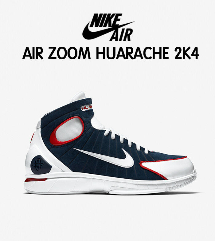 Nike Zoom Huarache 2K4 KOBE  USA Olympic Independence Day July 4th Navy Men Sz 8