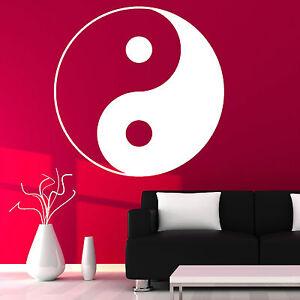 72a6929802 YIN YANG SYMBOL YING-YANG WALL ART ROOM STICKER VINYL DECAL   eBay