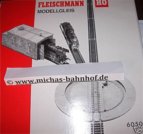 Drehscheibe Modellgleis Handbetrieb Fleischmann 6050 NEU OVP H0 1 87   µ
