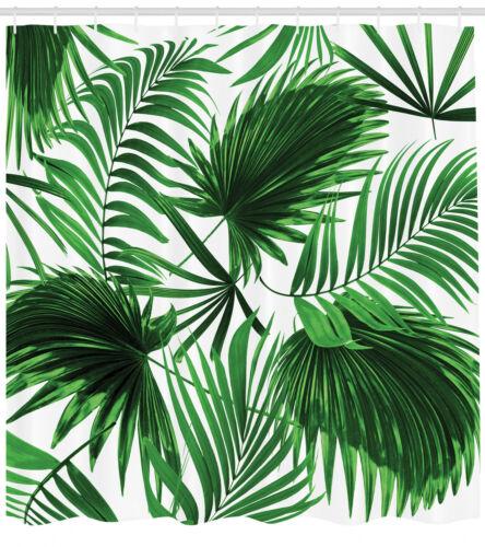 Palmblatt DuschVorhang Aquarell Optik Blätter Gardinen inkl 12 Ringe