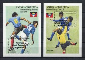 S6176) Antigua & Barbuda 1989 MNH Wc Football '90 - CM FOOTBALL S/S Winners