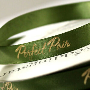 "Perfect Pair. 5/8"" Wedding Favor Ribbon, 2 Sizes, 26 Colors!"