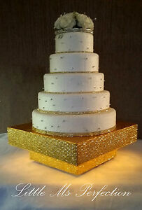 Great Image Is Loading LARGE GOLD SILVER DIAMANTE LIGHT UP WEDDING CAKE