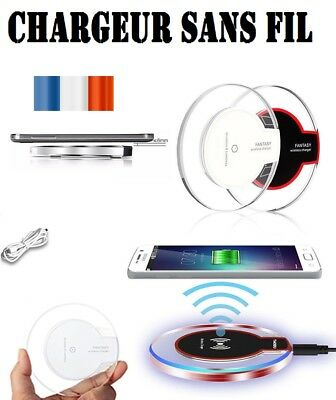 rapide chargeur sans fil qi induction charge pr apple iphone 8 x samsung s9 s8 ebay