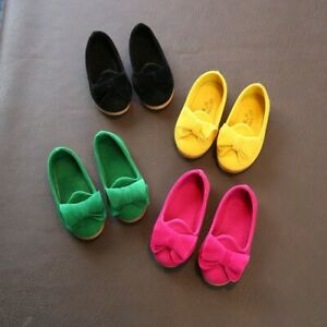 Toddler-Kids-Girls-Shoes-Baby-Princess-Flats-Bow-knot-Casual-Soft-Crib-Shoes-AU