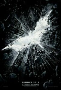 The Dark Knight Rises Plakat Zweiseitig Advance (2012) Original Filmposter