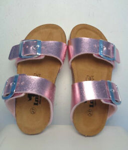 Pantolette-Hausschuh-pink-Groesse-27-28-29-31-Longo-Maedchen-BIO