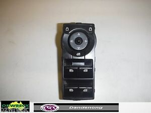 GENUINE-HOLDEN-COMMODORE-VE-WINDOW-MASTER-SWITCH-4-BUTTONS-BLACK