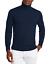 Maglione-Uomo-Collo-Alto-Lana-Slim-Fit-Maglia-Blu-verde-nero-Dolce-Vita miniatura 19
