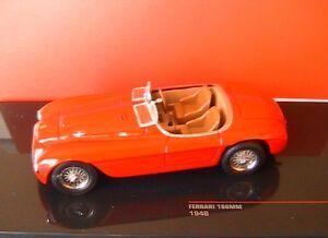 FERRARI-166MM-1948-ROADSTER-RED-IXO-FER047-1-43-166-MM-ROSSO-RED-ROT-ITALIE-NEW