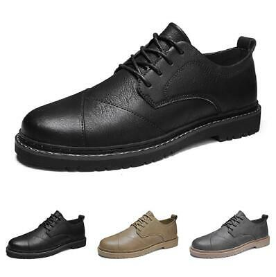 Details about  /Mens Low Top Faux Leather Business Leisure Shoes Oxfords Round Toe Lace up New L