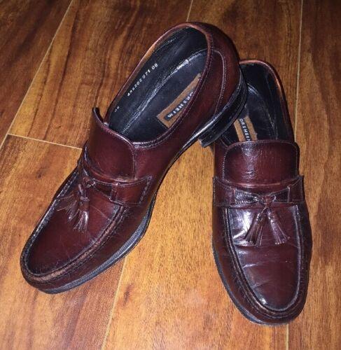 Vintage Florsheim Mens Cherry Como Leather Loafer