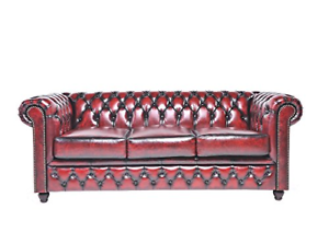 Marvelous Details About Mid Century Chesterfield Tufted Leather Sofa Couch Modern French Antique Look Uwap Interior Chair Design Uwaporg