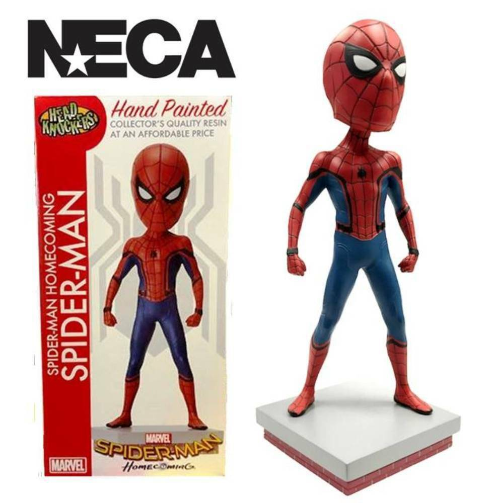 Bobble-head Spider-Man Homecoming Marvel Head Knocker 20 cm Neca