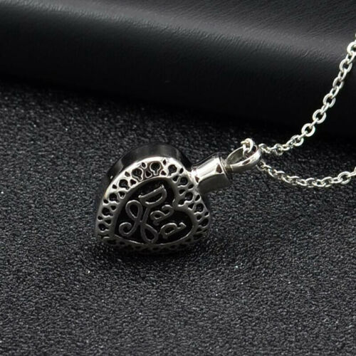 Cremation Jewelry Keepsake Dad Memorial Penda RC Heart Urn Necklace for Ashes