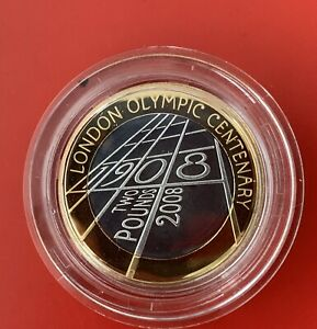 Royal Mint 2008 London Olympic Centenary £2 Silver Proof Piedfort 4th Olympiad