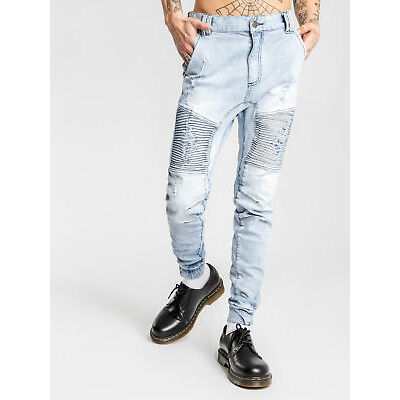 New Nena and Pasadena Destroyer Pant In Light Blue Denim Mens Jeans