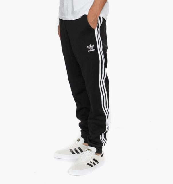 buy online 000bd 6af42 NEW ADIDAS SUPERSTAR MEN BLACK WHITE SST CUFFED TRACK PANTS