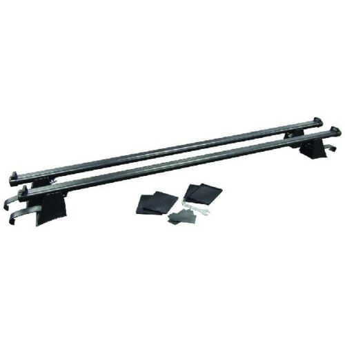 Streetwize SWRB3 Universal Roof Rail Bars Pair Aluminum Locking 125cm 60kg Load