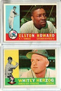 1960 TOPPS WHITEY HERZOG & ELSTON HOWARD (NM OR BETTER)