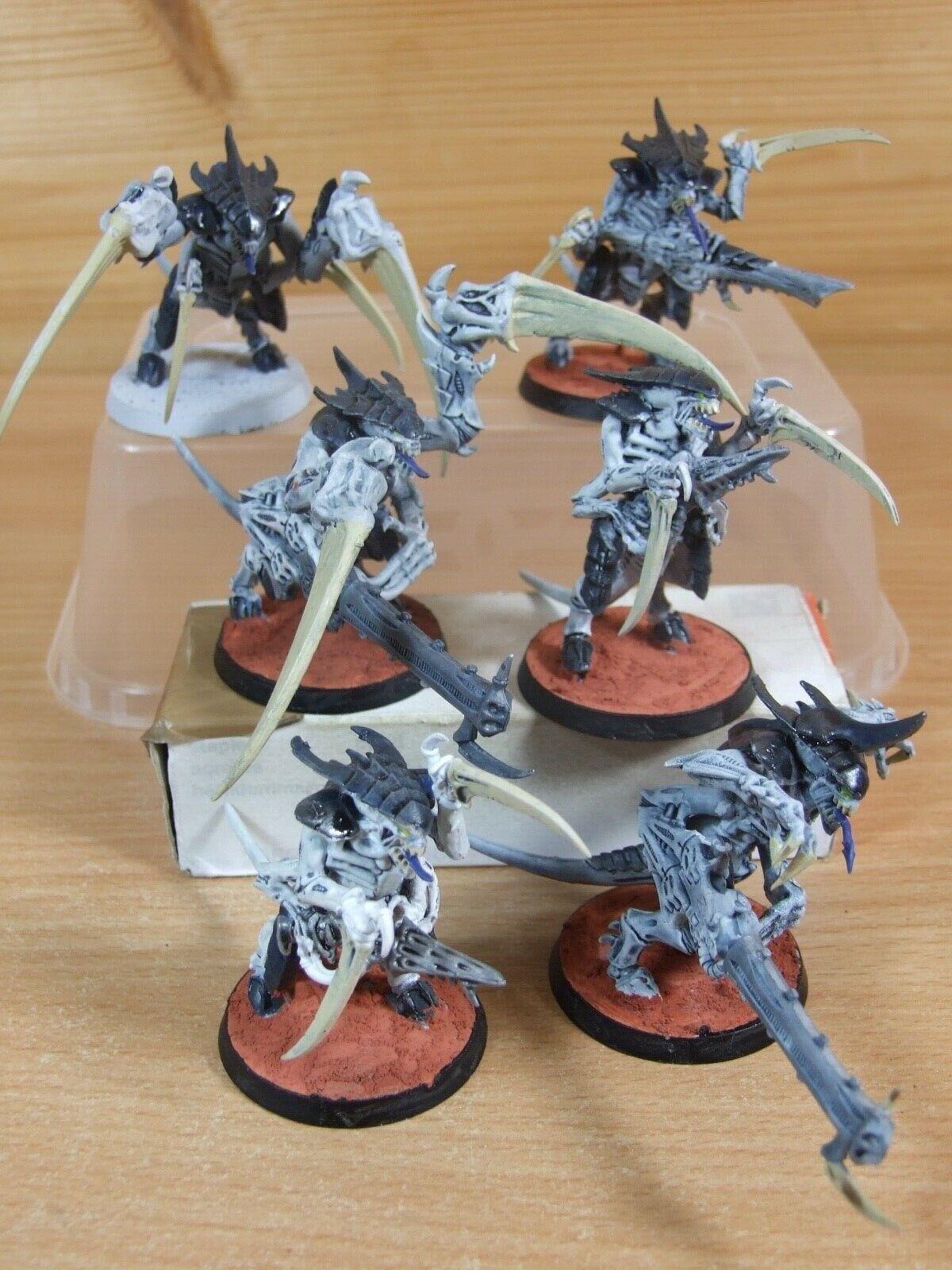 6 Plastique WARHAMMER Tyranid guerriers peint (L)