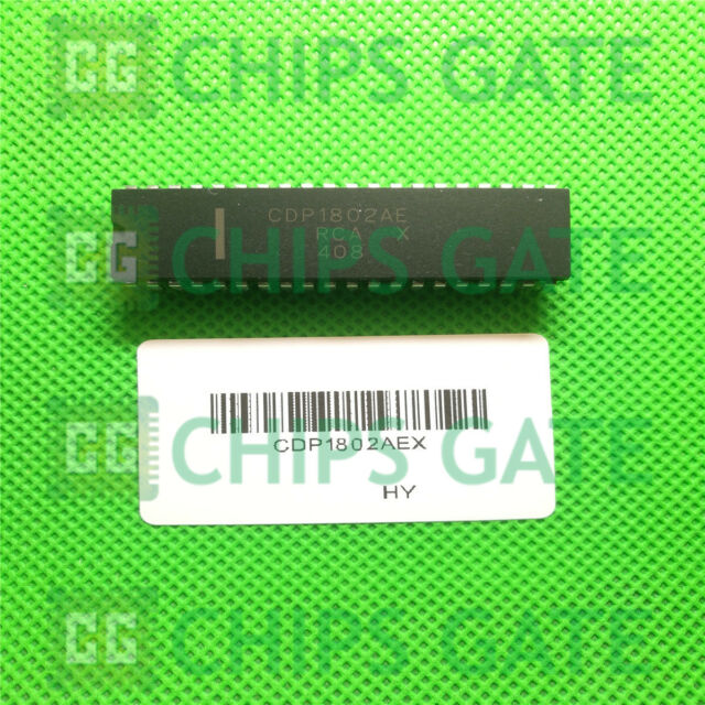 5PCS CMOS 8-Bit Microprocessors IC HARRIS//RCA DIP-40 CDP1802AE CDP1802AEX