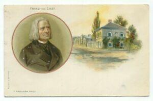 Franz-Von-Liszt-Postcard-Hungarian-composer-and-pianist