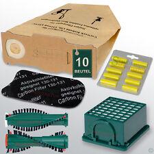 Filtertüten Staubsaugerbeutel Filter Bürsten Duft passend Vorwerk Kobold 130 131