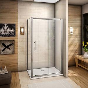 100x80cm cabine de douche porte coulissante avec paroi de douche sans receveur ebay - Cloison de douche ...