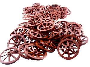 Lego 20 Stück braune reddish brown Wagenräder Kutschen Räder 4489b Neu Rad