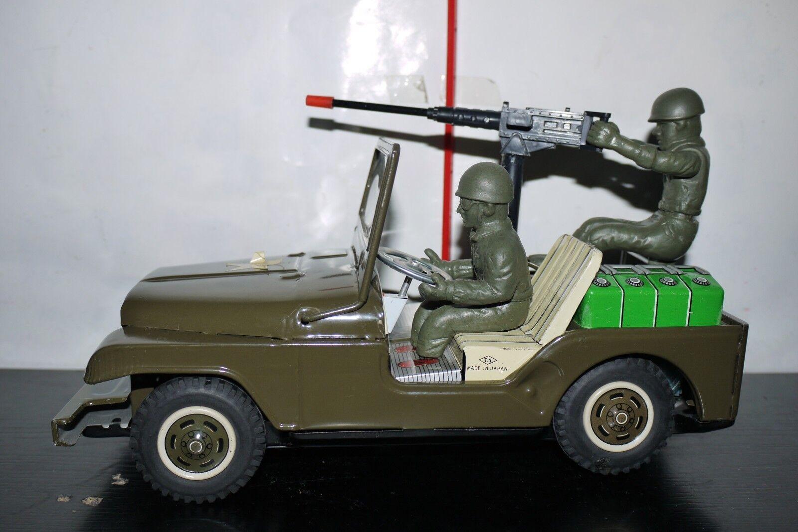 50'S T.N Nomura Ranger Jeep US Army Military METAL Tin Toy Vintage