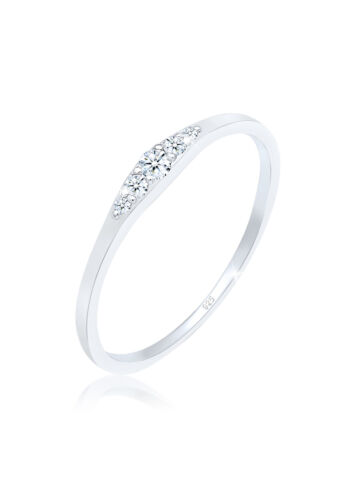 Ring Verlobungsring Silber 925 Diamant Silberring Echtschmuck Solitär DIAMORE
