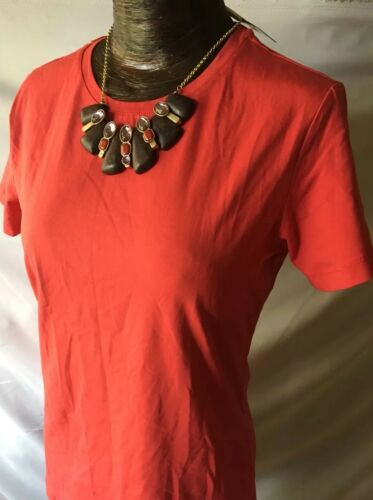 Tex By Max Rave Women/'s Tomato Red Short Sleeve Crew Neck Tee Shirt Medium-New