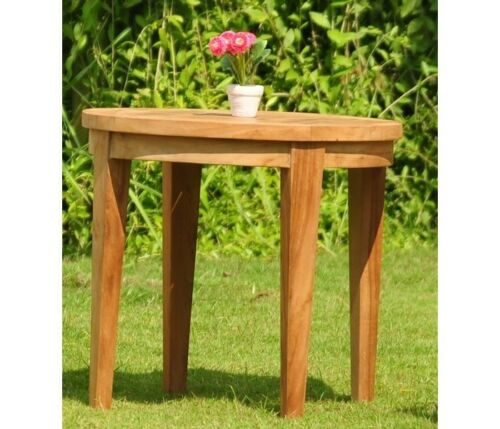 3pc Grade-A Teak Dining Set Noida Round Side Table 2 Leveb Stacking Arm Chair 9780873954013